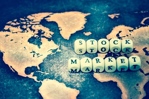STOCK MARKET world map
